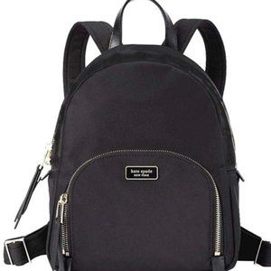 Kate Spade Dawn Large Wkru5919 BlackNylon BackpacK